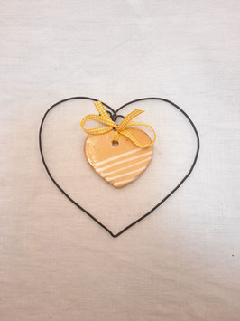 """Coeur médaillon """"jaune"""""""