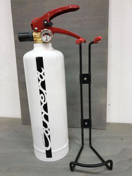 Feuerlöscher 1kg mit Halter (Metall) (2 Farben)