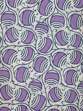Block Print Bio Baumwolle - Violette Kugeln