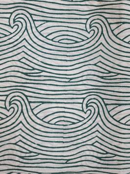 Block Print Bio Baumwolle - Blaue Wellen