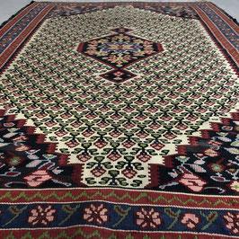 Persian Rose Kilim 'Senneh',  150 x 108 cm