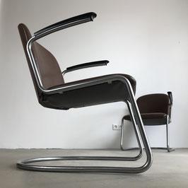 Set of 2 Gispen Lounge Chairs 413, 1950s