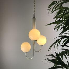 3-Globes Stilnovo Pendant Light, 1970s