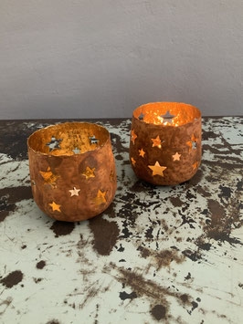Rostiges Sternenteelicht Kupfer