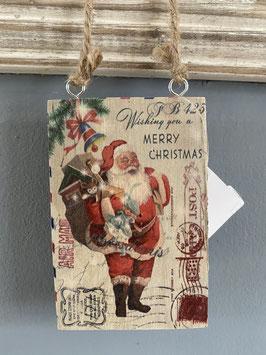 Holzschild Weihnachtsmann klein