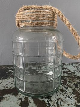 Glasflasche groß zum Aufhängen