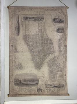 Große Wandkarte New York
