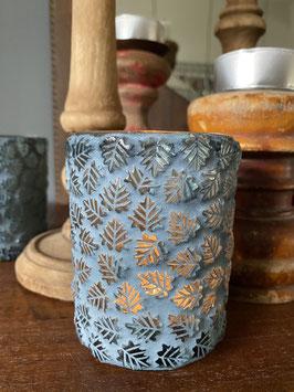 Glas Teelicht Blätter von Bloom