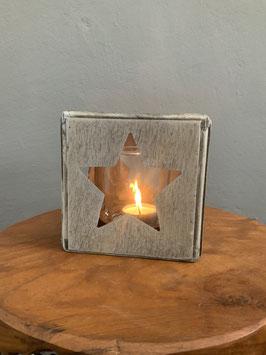 Holzwindlicht  Stern
