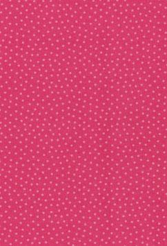 Baumwolle pink mit weißen Punkten
