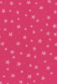 Baumwolle pink mit weißen Sternen