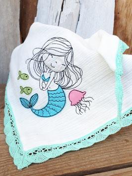 Musselintuch Meerjungfrau