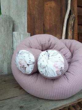 Bettschlange rosa Waffelpiqué