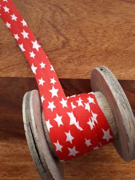 Schrägband Sterne rot/weiß