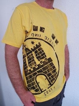 Herren T-Shirt gelb/schwarz