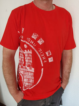 Herren T-Shirt rot/weiß