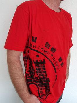 Herren T-Shirt rot/schwarz