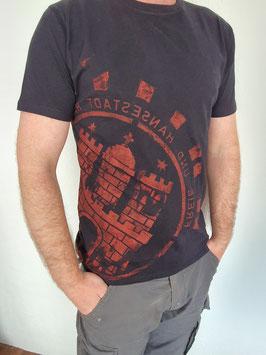 Herren T-Shirt Schwarz/rot