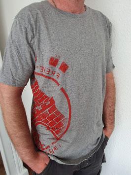 Herren T-Shirt grau/rot