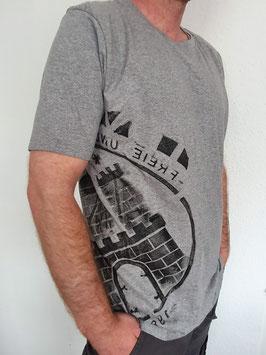 Herren T-Shirt grau/schwarz