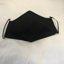 Stoffmaske schwarz Uni