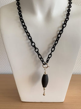 Long-Kette mit Onyx-Anhänger