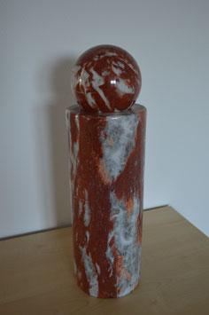 Naturstein-Säule, Marmor mit Marmorkugel