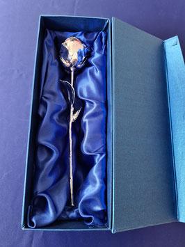 Rose 28 cm, echte Rose, echtes  Silber, Goldene Rose Geschenk,