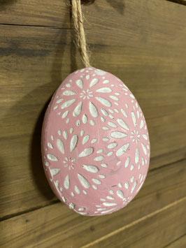 Rosa Eier Motiv Blume