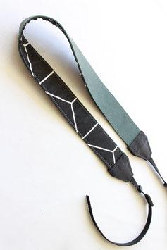 Camera strap green/black geometric