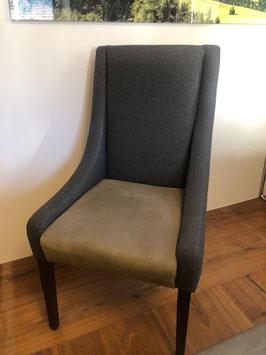 Stuhl mit Leder und Loden