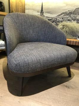 Sessel Mix Leder und Stoff