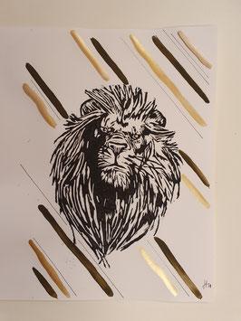Löwe mit Mondgold