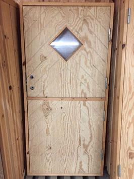 """Stalldörr 9x18,5 med fönster """"Ruter"""""""