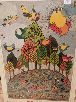 Puzzle 1000 Pièces Nature Birds and Bugs
