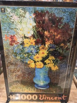 Puzzle 1000 Pièces Van Gogh - Vase Bleu Fleurs