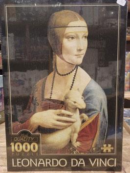 Puzzle 1000 Pièces Leonard de Vinci - Femme à l'Ermine