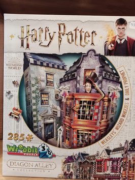 Puzzle 3D 285 Pièces Harry Potter - Weasley Wizard's Wheezes and Daily Prophet