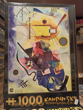 Puzzle 1000 Pièces Kandinsky - Jaune Rouge Bleu