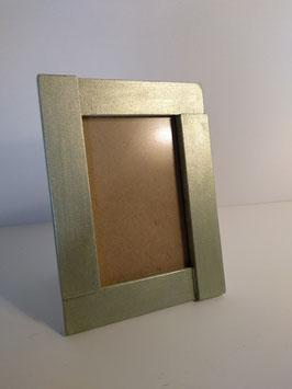 Portafoto metalizado verde