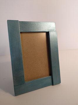 Portafoto metalizado azul