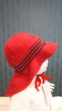 PICKAPOOH Feuerwehr Strick Sonnenmütze in rot mit Nackenschutz  UV80