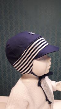 Pickapooh Baby Sonnenhut Nils Blau mit blau/weiss Rib UV80