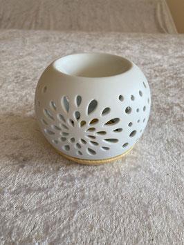 Duftlampe Keramik weiß
