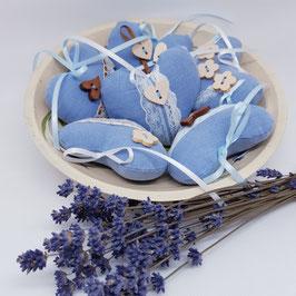 Lavendelherz Leinen