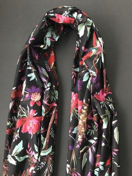 Sjaal Katoen Print Black