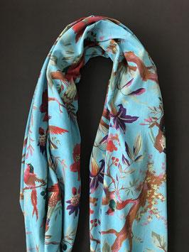 Sjaal Katoen Print Aqua