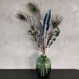 Trockenblumen strauß Pfauenfeder