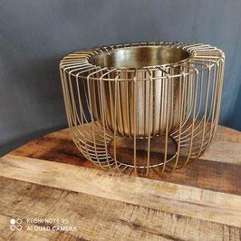 Metallkorb gold