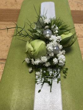 Clipparmreif in weiß/grün